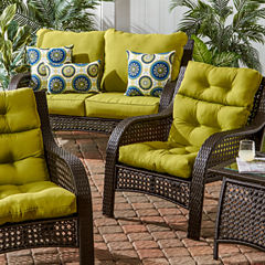 Outdoor High Back Chair Cushion, Set of 2