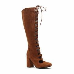 Qupid Lace-Up Boots