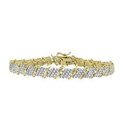 2 CT. T.W. Diamond 10K Yellow And White Gold Bracelet