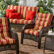 Outdoor High Back Set of 2 Chair Cushion