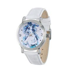 Disney Princess Disney Princess Womens White Strap Watch-Wds000179