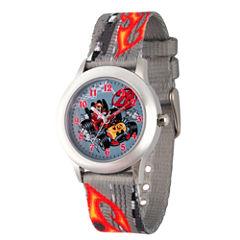 Disney Mickey Mouse Boys Gray Strap Watch-Wds000182