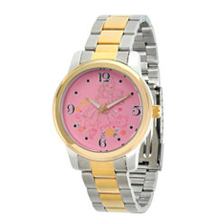 Disney Princess Beauty and the Beast Womens Two Tone Bracelet Watch-Wds000234