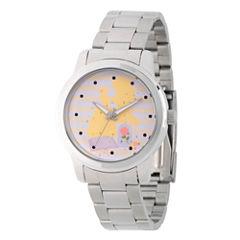Disney Princess Belle Beauty and the Beast Womens Silver Tone Bracelet Watch-Wds000236