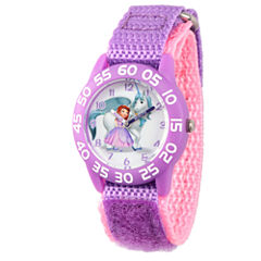 Disney Princess Sofia The First Girls Purple Strap Watch-Wds000264