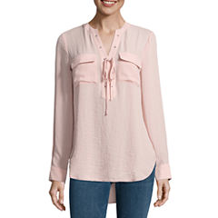 a.n.a Lace Up Blouse