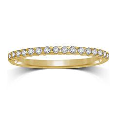 1/7 CT. T.W. Diamond 10K Yellow Gold Band Ring