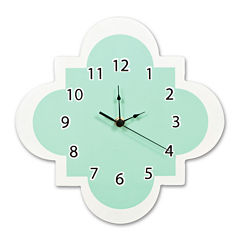 Trend Lab® Mint Quatrefoil Wall Clock