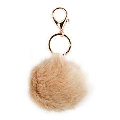 Carole Tan Fuzzy Keychain
