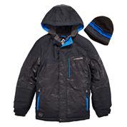 Zeroxposur® Snowboard Jacket with Beanie - Preschool Boys 4-7