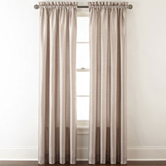 Royal Velvet® Plaza Thermal Interlined Rod-Pocket Curtain Panel