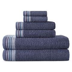 Home Expressions™ Ombré Stripe 6-pc. Bath Towel Set