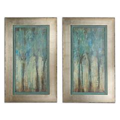 Set of 2 Whispering Wind Framed Wall Art