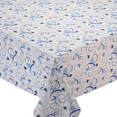 Design Imports Hanukkah Swirl Tablecloth