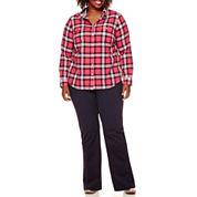 St. John's Bay® Long-Sleeve Camp Shirt or Straight-Leg Trousers - Plus