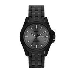 Relic® Grant Mens Stainless Steel & Black IP Round Watch ZR12126