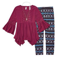 Knit Works Peasant Top Legging Set - Girls' 7-16 & Plus