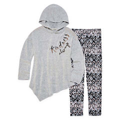 Self Esteem Assymetrical Hoodie Legging Set - Girls' 7-16 and Plus