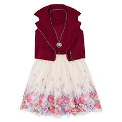 Total Girl Wine Sleeveless Moto Jacket Dress - Girls' 7-16 & Plus