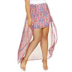 Alina Mini Skirt With Chiffon Overlay