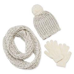 Total Girl® 3-pc. Beanie, Scarf and Magic Glove Set - Girls 7-16