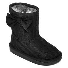 Okie Dokie® Maisy Girls Sweater Boots - Toddler