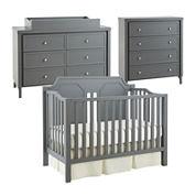 Savanna Carli 3-pc. Baby Furniture Set - Grey