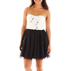 Speechless® Rosette-Bodice Dress