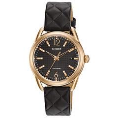 Citizen Black Strap Watch-Fe6083-13e