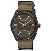 Citizen Mens Green Strap Watch-Bm6995-01x