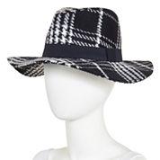 Oversized Plaid Panama Hat