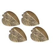 Design Imports Set of 4 Leaf Napkin Rings