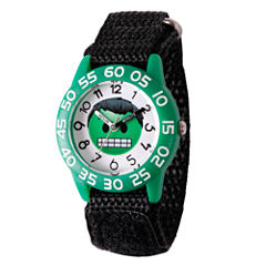 Emoji Marvel Boys Black Strap Watch-Wma000074