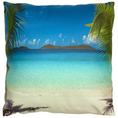Oriental Furniture Caribbean Beach Throw Pillow