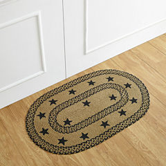 Better Trends Whimsical Star Print Braided Oval Rugs