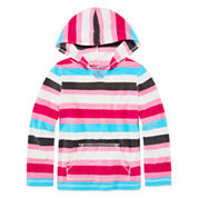 Okie Dokie® Comfy Fleece Hoodie - Toddler Girls 2t-5t