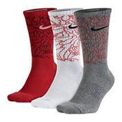Nike® Mens 3-pk. Dri-FIT Triple Fly Crew Socks