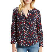 Levi's® Long-Sleeve Woven Blouse