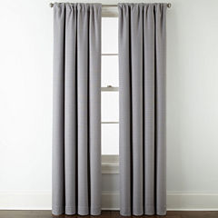JCPenney Home™ Quinn Basketweave Rod-Pocket/Back-Tab Curtain Panel