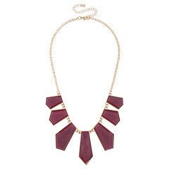 Mixit Purple Statement Necklace