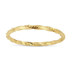 Womens 18K Gold Over Silver Bangle Bracelet