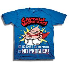 Short Sleeve Captain America T-Shirt-Preschool Boys