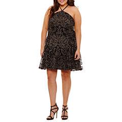 Speechless Sleeveless Party Dress-Juniors Plus