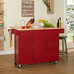 Sundance Wood-Top Kitchen Cart