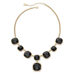 Monet® Gold-Tone Jet Black Y Necklace