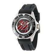 Marvel® Ant-Man Logo Mens Black Silicone Strap Watch