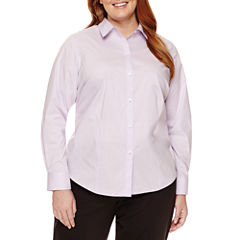 Liz Claiborne® Long-Sleeve Shirt - Plus