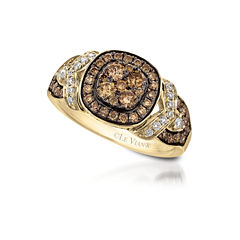 Grand Sample Sale™ by Le Vian® 1 CT. T.W Vanilla Diamonds® & Chocolate Diamonds® in 14k Honey Gold™ Chocolatier® Framed Clusters™ Ring