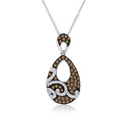 Grand Sample Sale™ by Le Vian®  featuring 1/2 CT. T.W Vanilla Diamonds® & Chocolate Diamonds® in 14k Vanilla Gold® Chocolatier® Pendant