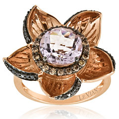 Levian Corp Le Vian Womens 1/2 CT. T.W. Pink Amethyst 14K Gold Cocktail Ring